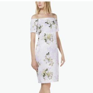 NWT Calvin Klein Floral Off-the-Shoulder Dress